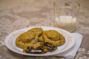 Oreo stuffed chocolate chip cookie by photoequal