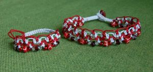 red and white macrame set by were-were-wolfy
