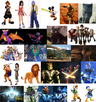 Kingdom Hearts World Conquest Heroes by dragonluvuh