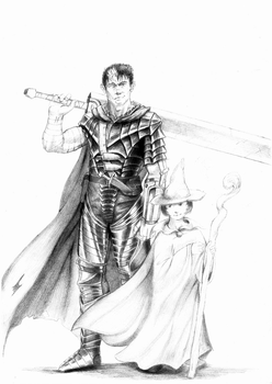 Guts and his Lucky Charm by hail-the-oblivious