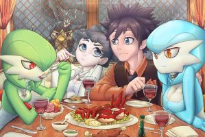 Dining with Gardevoirs by MasterPloxy