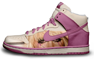 Lady Gaga Paparazzi Nike Dunks by roobarbcrumble