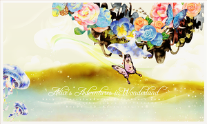 Alice's Adventures in Wonderland Psd flower png by Fairylandalse