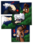 Night of Wolf Girls page 3 (collab) by Tomek1000