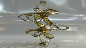 Feathered Glass with a Twist by mlindeart