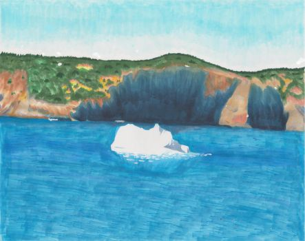Iceberg off of Middle Cove Beach by animefan-no1