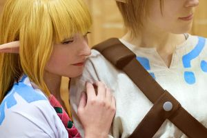 Zelda and Link Skyward Sword by memoire-hana