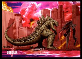 GODZILLA COLORS by JoshTempleton