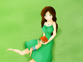 The Hunger Games Annie and her baby.... by KvotheENDV