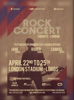 Rock Tour Concert Flyer by hawkmax