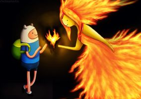 finn and flame princess by Mrs-Elric-613