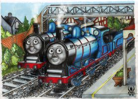 Donald and Douglas by SenatorTrainFreak