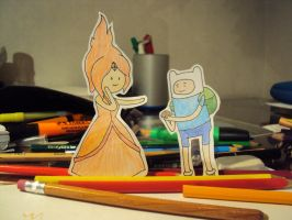 Finn and Flame Princess by Conival