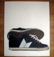shoes painting by maverickcarter