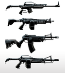 Assault Rifle Concepts by Estrada
