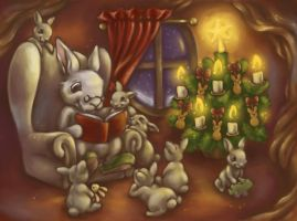 Christmas at the Rabbits by DreamsOfALostSpirit