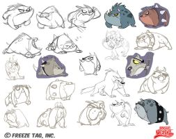 Rocket Weasel - dog iterations by doingwell