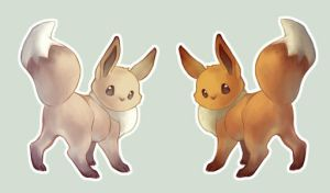Eevees by Rozenng