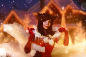 LoL - Ahri New Year by MilliganVick