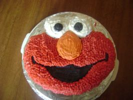 Elmo Cake by emo-muffin-stock