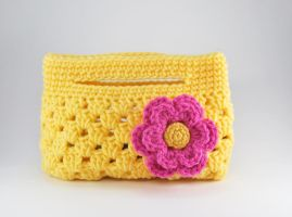 Small Granny Stripes Bag by craftyhanako