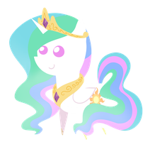 Princess Celestia chibi by DragonGirl983