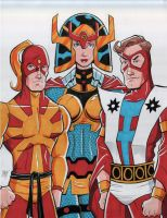 Judomaster, Big Barda and Manhunter by calslayton