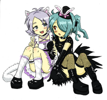 Sweet Lolita and Punk Lolita by KiraiRei