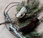 Mink tail necklace by lupagreenwolf