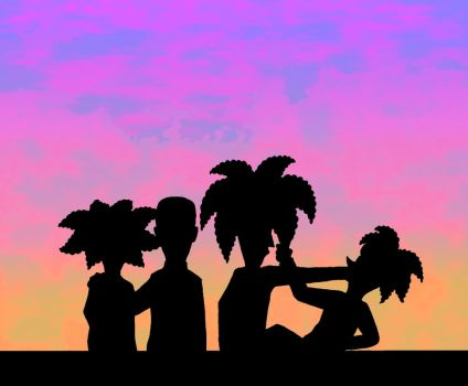 Sunset Silhouettes by Nevuela