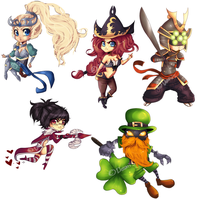 LEAGUE OF LEGENDS chibis set 4 by Donnis