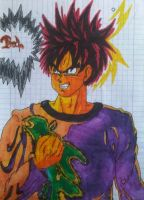 Drawing-Myself_Dragon-Ball by eduaarti