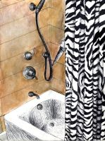 Fear the Man in the Shower: Concentration 5 by LuvAngelpie