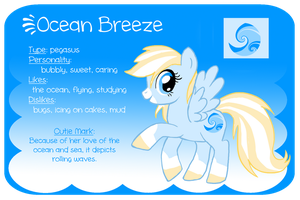 Reference Sheet: Ocean Breeze by Kennadee