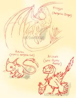 Realistic pokemon doodles by InkTailedDragon