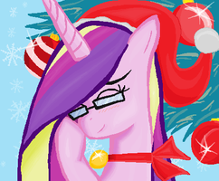 Christmas Princess Cadence  in MS-Paint by sallycars
