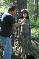 Making a Nymph by BareBeautyBodypaint