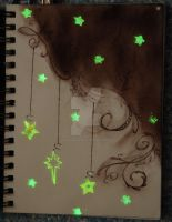 sketchbook page 37 - glow in the dark by lonesomeaesthetic