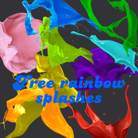 Free Rainbow Splashes by tmanintown