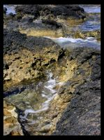 A Rocky Beach, Hawaii by DirtHat