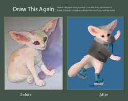 Draw this fennec again by LadyElenaNaylor