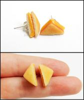 Grilled Cheese Post Earrings by Bon-AppetEats