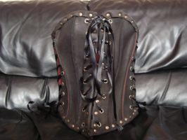 Leather corset 4 by draks