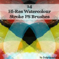 Watercolour Strokes Brushes by fudgegraphics