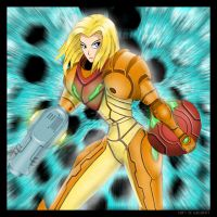 Samus Aran Warp by RightHandOfDoom