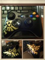 Triforce Eagle Xbox Controller by twizzlerfox