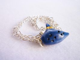 Ocarina of Time Necklace by meh-anne