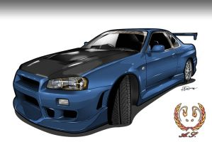 Skyline R34 by Shift-expectations