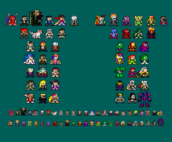 8-bit Ultimate Marvel vs Capcom 3 by RieyTails