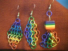 Rainbow earring assortment by lunabellvarga
